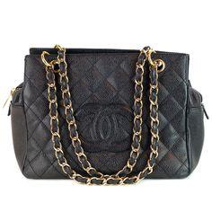 59de9af2f009 Chanel Black Caviar Petite Timeless Shopper Tote biltmorelux.com Designer  Handbag Brands, Designer Handbags
