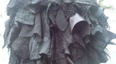 $68.00 Upcycled Black Bustle Woman's Clothing Mori by BabaYagaFashion