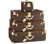 Louis Vuitton Leather Luggage Set