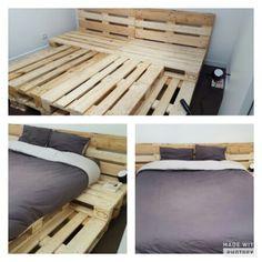 1000 ideas about sommier en palette on pinterest bed - Taille palette europe ...