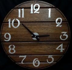 18 Inch Walnut RECYCLED WALL CLOCK Cut From by ClocksByHomestead, $59.00
