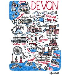 I've recently visited Devon and instantly fell in love with its beautiful countryside as well as its coast. The wild heathland of Dartmoor and Exmoor are stunning and dotted with cute, little, wild ponies, which always make you smile. I love the architecture of the British coast: lighthouses, piers and Art Deco hotels or Regency promenades. Oh I do like to be beside the Devon seaside, for sure!