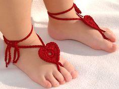 Baby Heart Barefoot sandals