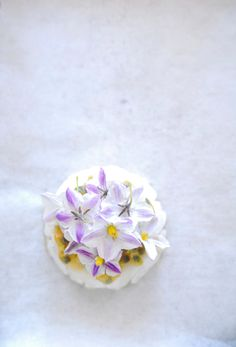 Panna cotta with Fresh Passion Fruit  Edible Flowers :)
