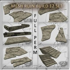 Mesh Urban Ruin Build  12 set Full perm