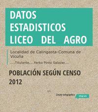 Infographic: Datos estadisticos   Liceo  del  Agro -