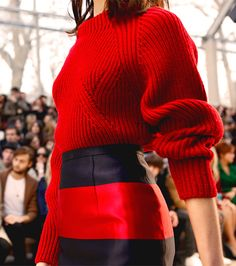 Block stripes on the Burberry Prorsum Womenswear Autumn/Winter 2013 runway