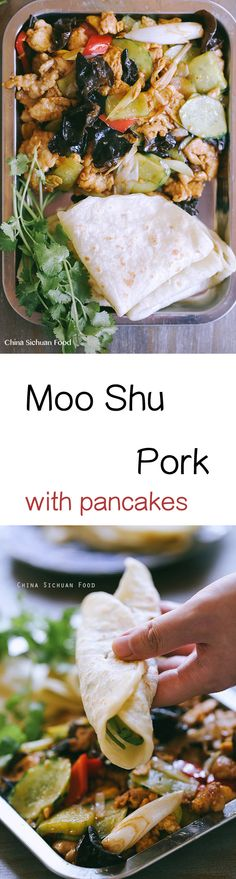 Moo Shu Pork with Moo Shu Shells