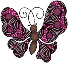 ArtbyJean - Paper Crafts: Butterflies and Birds - Set A34 - Maroon and Black - A collection of over 350 clip art printables