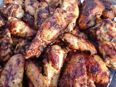 The marinade is simply wonderful and so easy. If you bite into one of these hot off the grill the rest may not make it into the house! Make extras because the kids will eat them cold the next day. I marinated the wings for 6 hours to overnight.  I also use 1 tablespoon of fresh ginger finely grated instead of ground ginger.