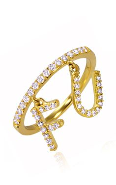 """Diamond Band With """"Follow Us"""" Charm by  for Preorder on Moda Operandi"""
