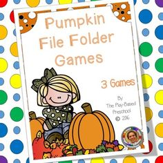 Pumpkin file folder games work on number recognition and 2D shape identification.Who Can Play Preschool Kindergarten (5…