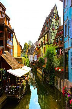 Little Venice Area of Colmar - One of the towns in the Alsace Region of France.