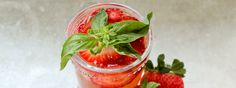 Make a strawberry basil Moscow Mule for Mother's Day