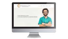 Sito web dinamico, responsive, one page per studio dentistico Conti.