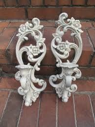 Image result for shabby chic wall sconces for candles