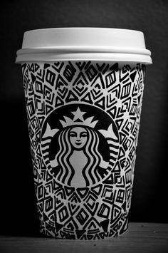 Tribal Starbucks cup art!