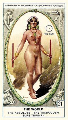 Cagliostro Tarot Card - The World