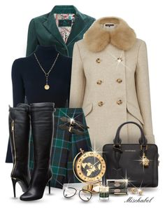 Timeless Lady - Plaid Skirt & Fur Collar Coat (173) by mischabel on Polyvore featuring polyvore, fashion, style, 3.1 Phillip Lim, Warehouse, Etro, Burberry, Alexander McQueen, Foundrae, Blue Nile, Chantecaille, Smith & Cult, Seiko Watches, clothing, makeup, plaid, velvet and fauxfur
