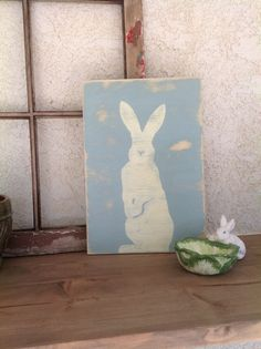 Hey, I found this really awesome Etsy listing at https://www.etsy.com/listing/267126972/easter-bunny-silhouette-hand-painted