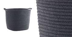 Rope Storage Basket - Dark Grey