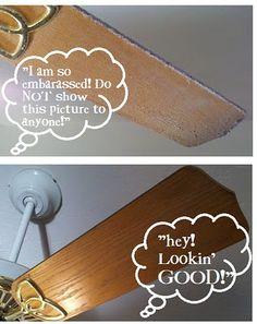 Clean your ceiling fan in SECONDS! I'm doing this today!  Another one of those why didn't I think of that ideas.