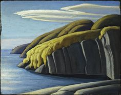 North Shore, Lake Superior, by Lawren Harris Oil on board, x cm, Canadian Group of Seven Emily Carr, Group Of Seven Artists, Group Of Seven Paintings, Canadian Painters, Canadian Artists, Abstract Landscape, Landscape Paintings, Oil Paintings, Tom Thomson Paintings