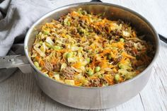 Spaghetti Casserole, Danish Food, Yummy Food, Tasty, Fried Rice, Dinner Plates, Paella, Food And Drink, Low Carb