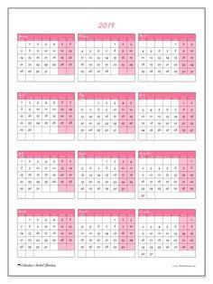Free calendar to print. Calendar 2019 (42MS)