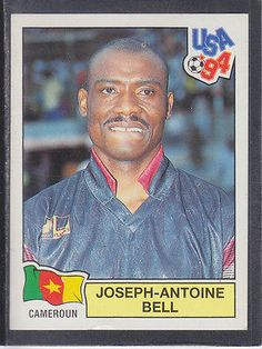 #Panini - usa 94 #world cup - # 130 joseph-antoine bell - cameroun #(black back), View more on the LINK: http://www.zeppy.io/product/gb/2/301614817425/