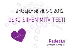 Hyvää yrittäjänpäivää 5.9.2012!