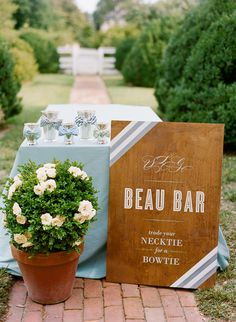 Custom wood sign, cute! | Photography: Katie Stoops, Event design: Merriment Events