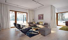 Projekt domu Artus 136,81 m2 - koszt budowy - EXTRADOM Modern Small House Design, Modern Interior Design, Modern Bungalow House, House Construction Plan, Flat Roof, Design Case, Home Fashion, Planer, House Plans
