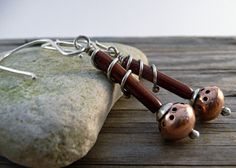 Dangle Drop Earrings Hollow form Sterling Silver  by LjBjewelry, $47.00