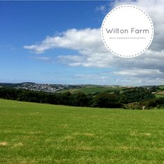 The view from the main camping field at Wilton Farm. The town you can see is Salcombe
