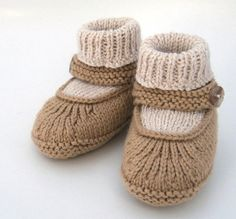 Knitting pattern for Mary Jane booties and more baby bootie knitting patterns
