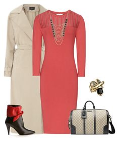 """""""outfit 2429"""" by natalyag ❤ liked on Polyvore featuring VILA, Yves Saint Laurent, Gucci, Lane Bryant and Alexis Bittar"""