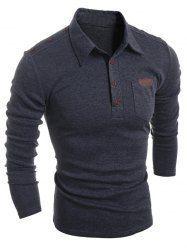 Buttoned Long Sleeve Pocket T-Shirt Well Dressed Men, Mens Fashion, Deep, Pocket, Gray, Long Sleeve, Sleeves, Mens Tops, T Shirt