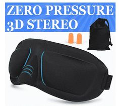 AMAZKER Sleep Mask & Ear Plugs Large Eye Cavities More Comfortable Anti-fade Anti-bacterial Anti-mite Durability Blocks out most sunlight Includes Carry Pouch - For Travel Shift Work & Meditation Best Amazon, Amazon Deals, Best Sleep Mask, Amazon Tribe, When You Sleep, Large Eyes, Ear Plugs, Travel Accessories, 3 D