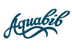 """If you're looking for an exotic way to call someone a """"water drinker,"""" try """"Aquabib."""" Lettering by Neil Tasker via Flavorwire."""