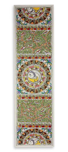 Madhubani Art- Godna style