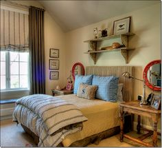 "Great teen/tween boy's bedroom.  Some design without too much ""over the top"". The ""S"" on the pillow even works."
