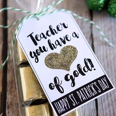 """Some teachers just deserve a little something for all the holidays. So why not surprise them with a little St. Patrick's Day Teacher Gift. They just take a couple dollars and a few minutes to put together, but they are sure to make any teacher feel special. We found all sorts of """"gold"""" treats to …"""