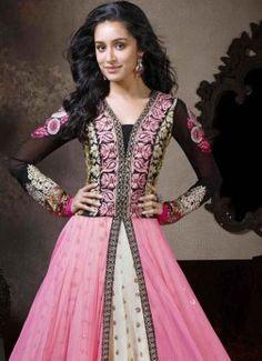 New Pink Fabulous Heavy Designer Anarkali Suits buy best designer sarees collections,Best Deals On Womens Wear online store, Best Deals On Anarkali salwar Kameez, End of Season Sale on Designer Dress Matirials and Kurti #dress #salwarkameez #cotton #designer #readymad #fancydress #Anarkali #Paiala #Punjabi #Casual #Long #Cotton #long #saree #designer #printedsaree #casualwear #casualstyle #casualsaree #silksarees