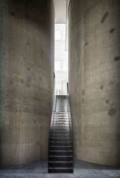Frederik Vercruysse Captured Art Dealer Axel Vervoordt Belgian Estate – Trendland Online Magazine Curating the Web since 2006 Axel Vervoordt, Grain Silo, Concrete, Stairs, Architecture, Culture, Magazine, Trends, Design