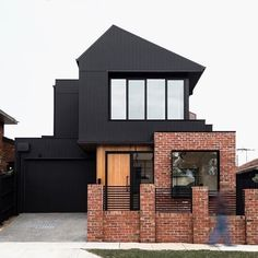 "Scyon Walls on Instagram: ""We don't know what we love more about this home, between the dramatic roofline, mixed textures and the modern look of the black Axon…"" External Cladding, Home Reno, First Home, Our Love, Facade, Cabin, Colours, Texture, Mansions"