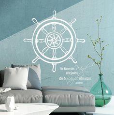 Wandtattoo Steuerrad für eine maritime Wohndeko / nautical wall tattoo made by deinewandkunst via DaWanda.com