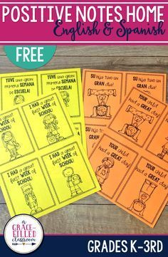 These fun and positive notes are just what you need to communicate with parents and let them know their child is doing great in school! From personal experience, I know that parents like to hear from their kid's teacher when their child is doing well! Plu