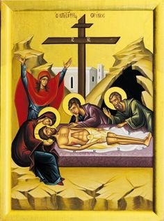 Great and Holy Friday - Great Lent, Holy Week, and Pascha in the Orthodox Church - Greek Orthodox Archdiocese of America Holy Friday, Holy Saturday, Religious Icons, Religious Art, Joseph Of Arimathea, Greek Icons, Christ Is Risen, Jesus Christ, Greek Easter