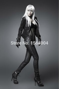 Punk Rock Nail Skull buttons Tights Manmade Leather Pants Trousers S M L XL XXL-in Pants & Capris from Women's Clothing & Accessories on Aliexpress.com | Alibaba Group